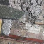 Sanierung eines Podestes aus Marmor-Platten